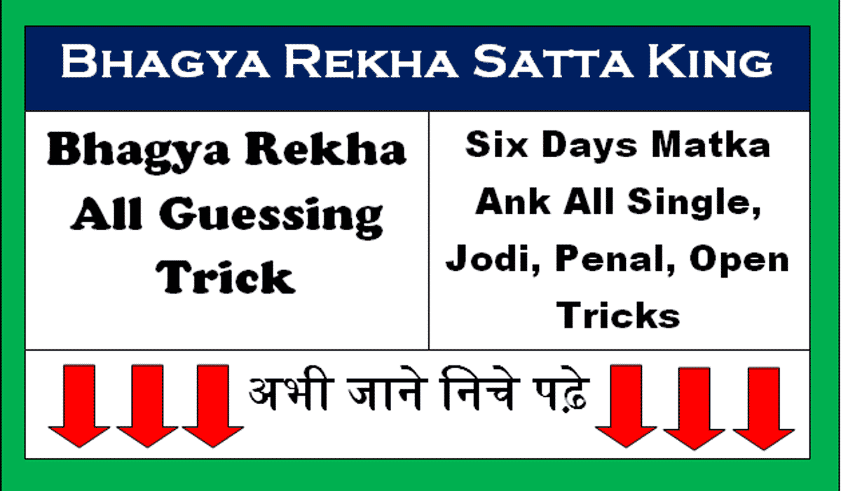 BHAGYA REKHA SATTA KING ALL GUESSING TRICK